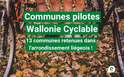 13 communes pilotes Wallonie cyclable en région liégeoise